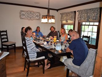 Guests enjoying breakfast at inn